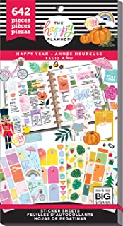 me & my BIG ideas The Happy Planner Sticker Value Pack - Happy Year Theme - Multi-Color - Great for Projects, Scrapbooks & Albums - 30 Sheets, 642 Stickers Total
