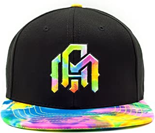 Adjustable Snapback Hats - Flat Brim Galaxy Print, Tie Dye Cap Designs