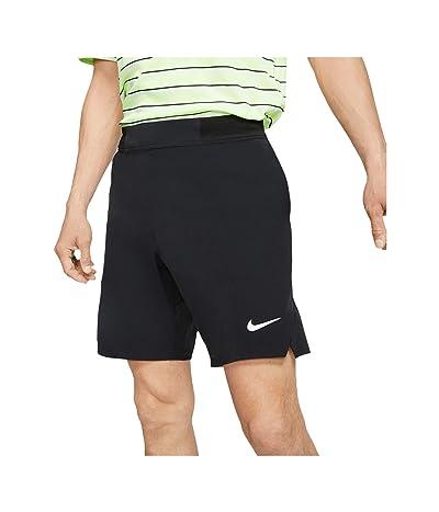 Nike NikeCourt Flex Ace Shorts 9 (Black/White) Men