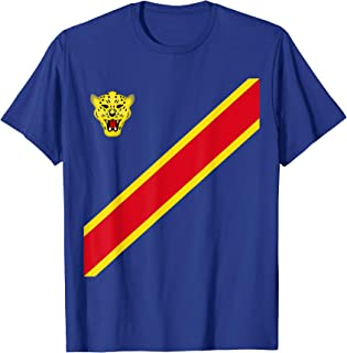 Congo Football Souvenir Flag Of DRC Leopards Proud Congolese T-Shirt