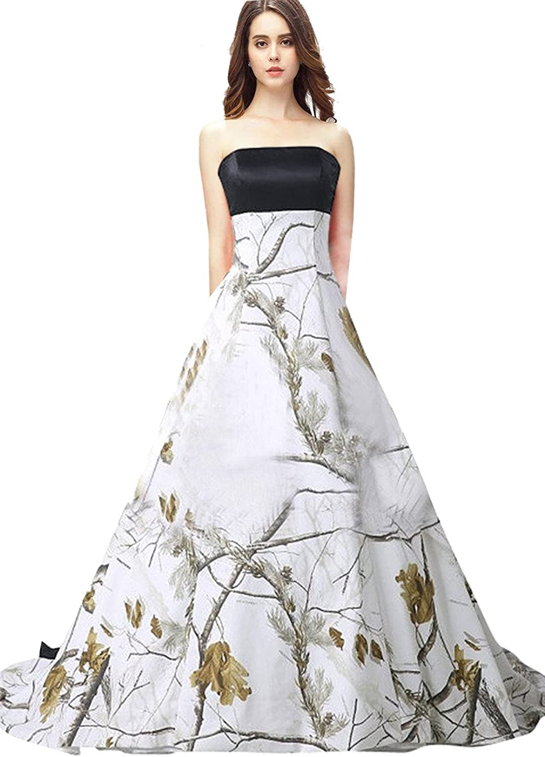 FASHION DRESS 2017 One Shoulder Camouflage Ball Gown Wedding Bridal Dresses Prom Quinceanera