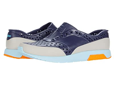 Native Kids Shoes Lennox Block (Little Kid) (Regatta Blue/Sky Blue/City Orange/Tundra Block) Boy