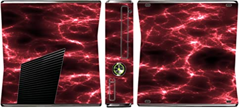 Red Lightning Storm Electric Vinyl Decal Sticker Skin by Moonlight4225 for Xbox 360 Slim (2010)