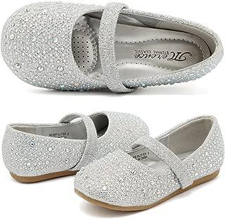 Toddler Girls Ballet Flats Shoes Ballerina Bowknot Jane Mary Wedding Party Princess Dress