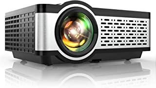 """TOPTRO Portable Projector,5500L Video Projector Support 1080P,200"""" Display,HiFi Speaker,[Native 720P] 55000 Hrs Outdoor/Ho..."""