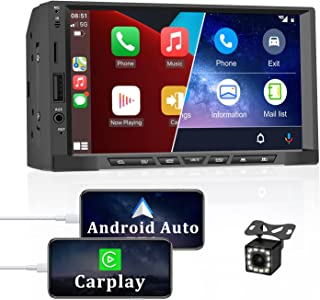 $89 » Android Auto & Apple Carplay Double Din Car Stereo with Bluetooth CAMECHO 7 Inch Touch Screen Car Stereo with Backup Camer...