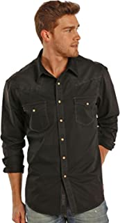Rock & Roll Cowboy Light Spray Solid Twill Snap Shirt