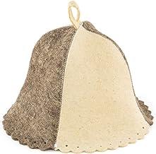 Eden Ukraine Wool Sauna Hat Gray White Without Embroidery