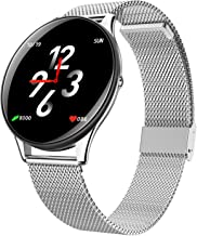 Smart Watch Android Blood Pressure Fitness Tracker Heart Rate Blood Oxygen Activity Tracker Pedometer Calorie Sleep Monitor Touchscreen Smartwatch for Women Men
