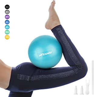 Pilates Ball, Barre Ball, Mini Exercise Ball, 9 Inch Small Bender Ball, Pilates, Yoga, Core Training and Physical Therapy, Improves Balance (Home & Gym & Office)
