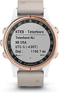 Garmin - Garmin Smartwatch D2 Delta S Sapphire Aviator Oro Rosa con banda de cuero beige 010-01987-31