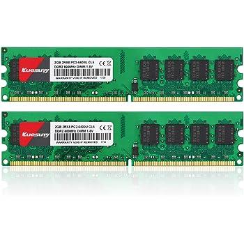 クエスニースクトップ PC用 メモリ1.8V DDR2 4GB (PC2-6400) 2GB×2枚240PinCL6 Non-ECCDIMM 永久保証