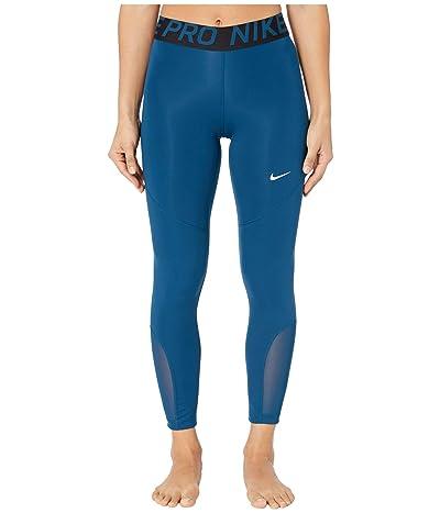 Nike Pro 7/8 Crop Tights (Valerian Blue/White) Women