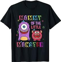 Mommy Of The Little Monster Birthday Family Monster T-Shirt