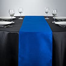 LinenTablecloth Shantung Table Runner Royal
