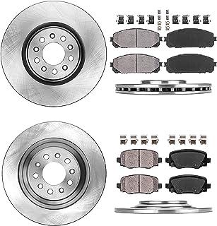 Rotors fit 2015-2017 Chrysler 200 2014-2019 Jeep Cherokee Callahan CDS03838 FRONT 329.95mm+REAR 278.04mm D//S 5 Lug 4