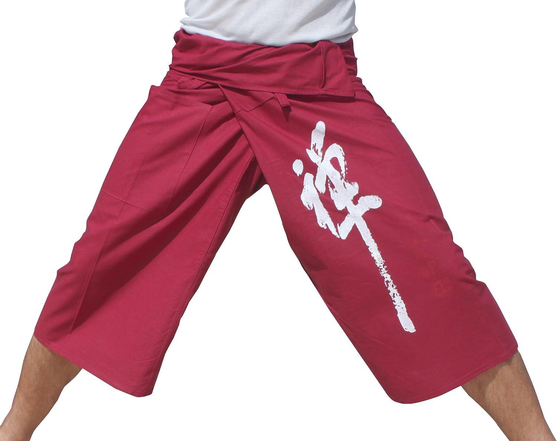 RaanPahMuang Strong Thin Cotton 3 4 Ch Capri Leg Columbus Mall Fisherman Direct store Pants