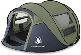 ADIPIN Instant Pop Up Outdoor Tent with Sky-window, Automatic and Instant Setup, Sun Shelter,Water Resistant,Ideal Shelter for Casual Family Camping Hiking