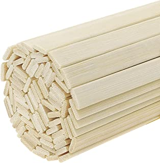 Favordrory 11.8 Inches Wood Craft Sticks Natural Bamboo Sticks, Bamboo Strips, Strong Natural Bamboo Sticks, 50 Pieces
