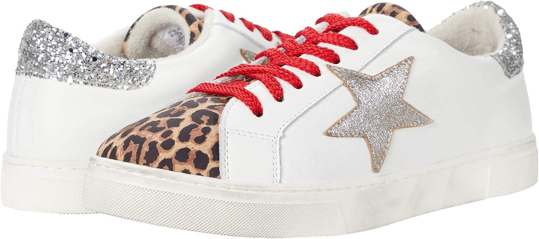 STEVEN by Steve Madden womens Rubie Sneaker, White Leopard
