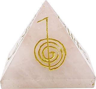 Harmonize La Pierre De Quartz Rose Pyramide Reiki Guérison Générateur Cristal Énergie De Symbole