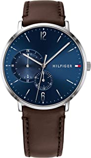 Tommy Hilfiger Mens Quartz Watch, Analog Display and Leather Strap - 1791508