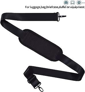 Universal Shoulder Strap Replacement Luggage Duffle Bag Strap Detachable Soft Padded Adjustable Belt with Metal Swivel Hooks Compatible Duffel Briefcase Computer Bags Laptop Case Messenger Bag, Black