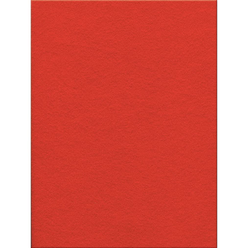 Kunin Eco-fi Stick'rzfelt Stiffened Peel-n-Stick, 9-Inch by 12-Inch, Red (Pack of 12)