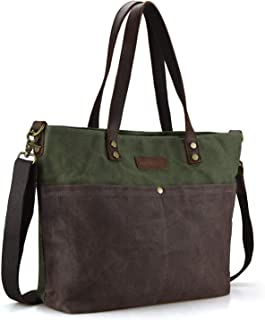 SHANGRI-LA Women's Totes Shoulder Bags Versatile Canvas Handbags Purses