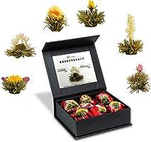 """Creano Tea Flowers Mix 6er """"Fior di Tè"""" - """"Tè bianco"""" in elegante Scatola magnetica con Goffratura argento"""