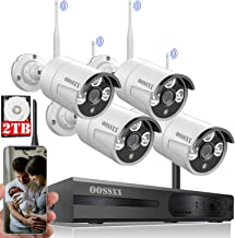 【Expandable 8CH&Audio】 OOSSXX 8-Channel HD 1080P Wireless Security Camera System,4Pcs 1080P Wireless Indoor/Outdoor IR Bul...