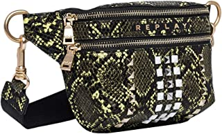 Replay Women's Shiny Printed Snake Belt Bag
