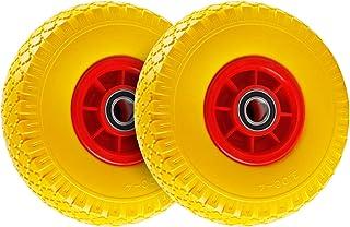 Forever Speed 2 x PU-wiel, kruiwagenwiel, 3.00-4, massief rubberen wielen, kruiwagenwiel, reservewiel, 260 mm, lekvrij, ma...