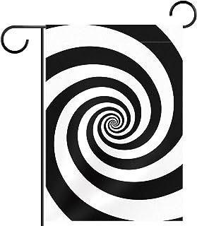 Garden Flag Hypnotic Psychedelic Spiral Swirl Pattern 12x18 Inch Double Sided Design Decorative Yard Banner Garden Flag Ho...