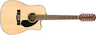 Best Fender CD-60SCE Right Handed 12 String Acoustic-Electric Guitar - Dreadnaught Body - Natural Review
