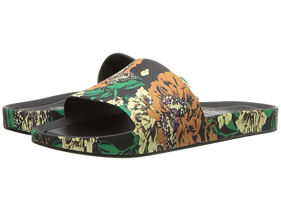 Melissa Shoes Beach Slide III (Black/Green) Women