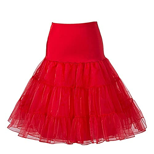 ea939a31c9 50's Petticoat Underskirt Retro Vintage Swing 1950's Rockabilly White,  Black 14 Colours