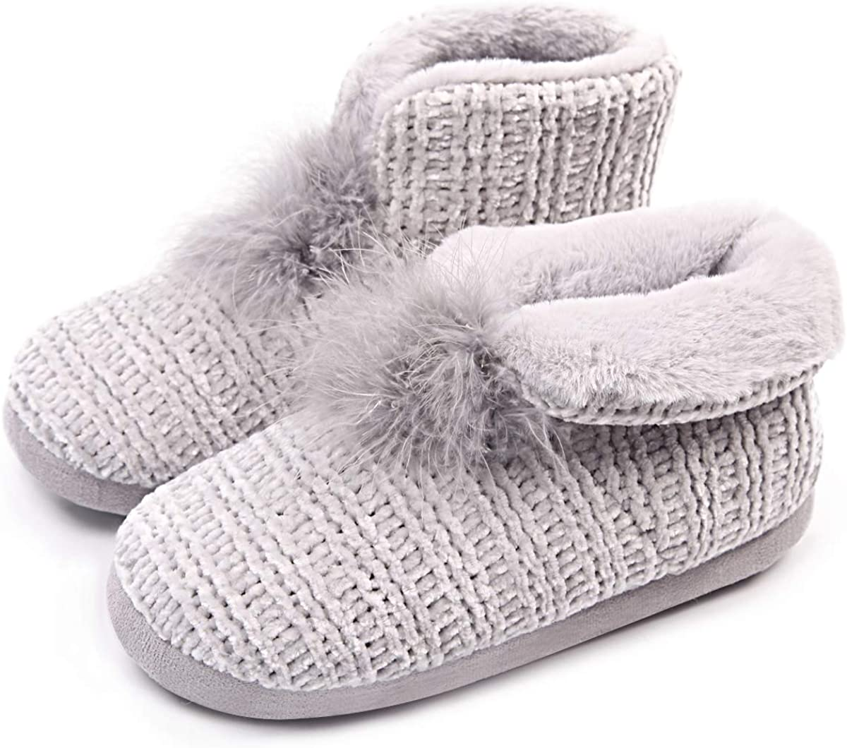 Caramella Bubble Womens Comfort Knit Slippers Bootie Warm Memory Foam House Booty Indoor Outdoor