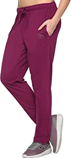 CUPID Regular Fit Cotton Plain Track Pants, Sports Lower, Joggers, Night Pants, Lounge Wear n Daily Use Gym Wear for Women