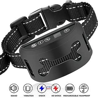 Dog Training Collar, Rechargeable Rainproof Anti Bark Collar Small Medium Large Dogs, Fast No Barking Training Device Every Dog Owner