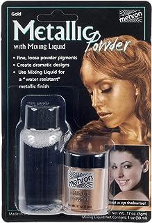 Mehron Metallic Powders And Mixing Liquid - Gold G