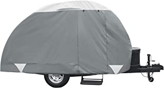 Classic Accessories Overdrive PolyPRO 3 Deluxe Teardrop Trailer Cover, Fits 10' - 12' Tab & Clam Shell Trailers - Max Weat...