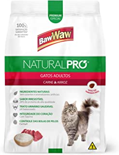 Ração Baw Waw Natural Pro para gatos adultos sabor Carne e Arroz - 1kg