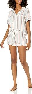 PJ Salvage Women's Loungewear Saturday Morning Stripe Pajama Pj Set