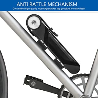 BIGLUFU Bike Folding Lock, Heavy Duty Bicycle Scooter Motorcycle Fold Locks,Alloy Steel Foldable Lock with Mounting Bracket and 2pc Non-Slip Velcro Straps | Unfolds to 86cm/34inch, 2.1lbs.