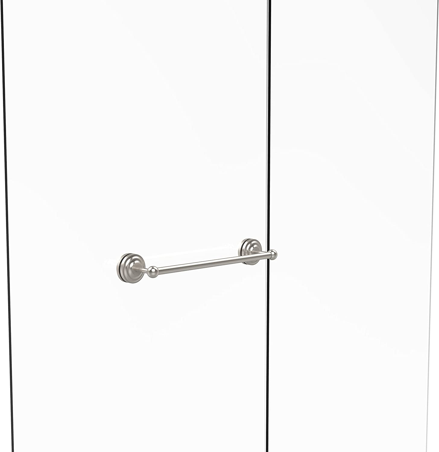 Allied Brass Que New Collection 18 Inch Shower Door Towel Bar, QN-41-SM-18-SN