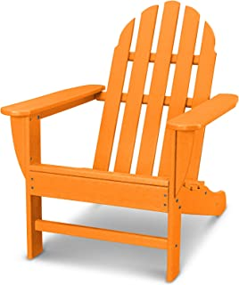 POLYWOOD AD4030TA Classic Outdoor Adirondack Chair, Tangerine