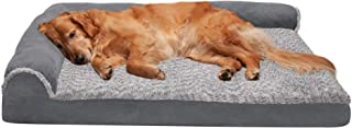 Furhaven Pet - Plush Orthopedic Sofa, Ergonomic Contour Mattress, Self-Warming Hi Lo Cuddler, Calming Anti-Anxiety Hooded ...