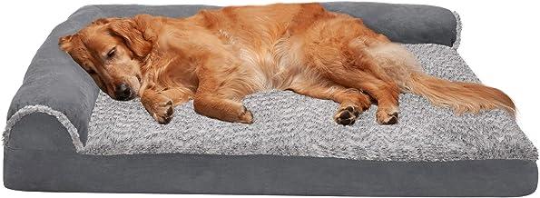 تختخواب سگ Furhaven Pet   اتاق ارتوپدی L شکل Chaise Lounge اتاق مبل به سبک مبل گوشه تخت خواب پت w / پوشش قابل جابجایی برای سگ ها و گربه ها - موجود در چند رنگ و سبک
