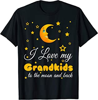 I love my Grandkids to the moon & back gift t Shirts